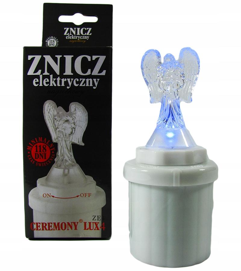 Wkład elektryczny do zniczy aniołek led anioł