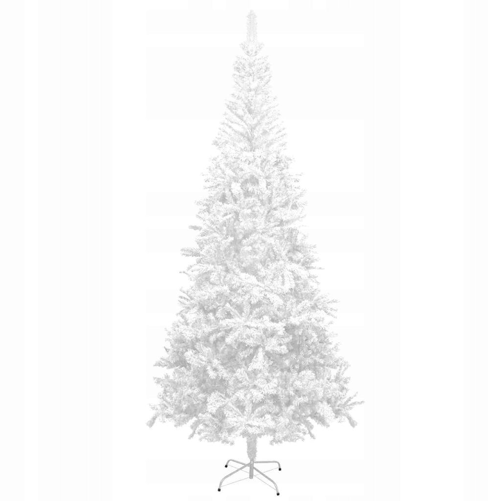 Umelý vianočný stromček 240 cm, biely
