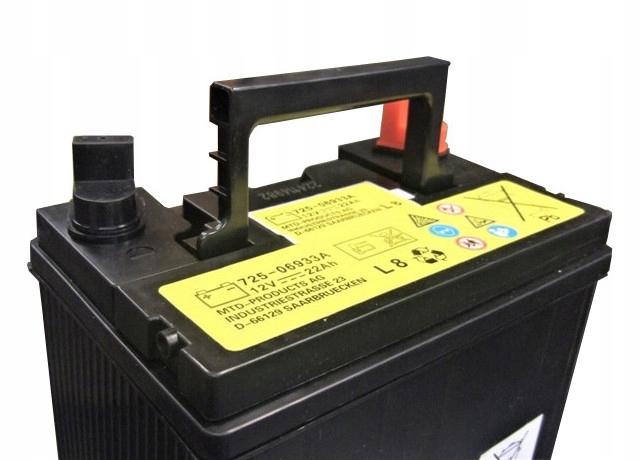 Akumulator do Traktorka Kosiarki MTD 22Ah 230A Biegunowość lewy +