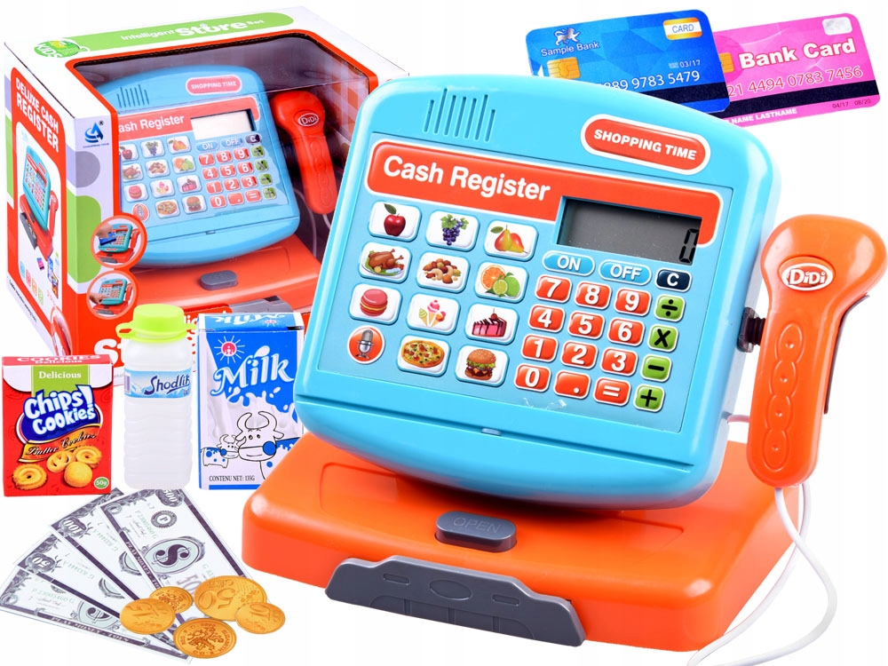 Elektroniczna zabawka Kasa fiskalna sklep ZA3883 Marka inna