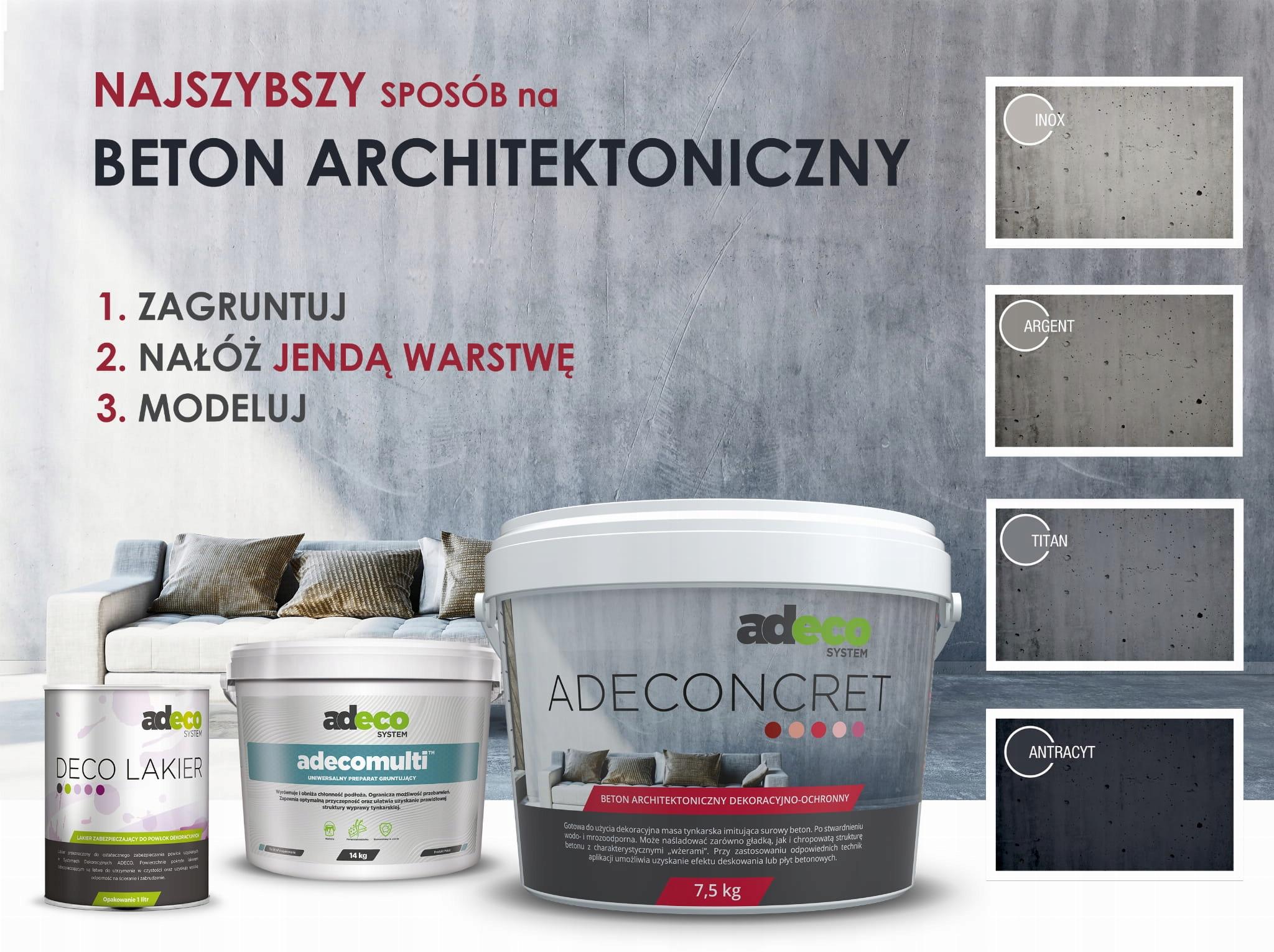 Beton architektoniczny tynk dekoracyjny tester kol