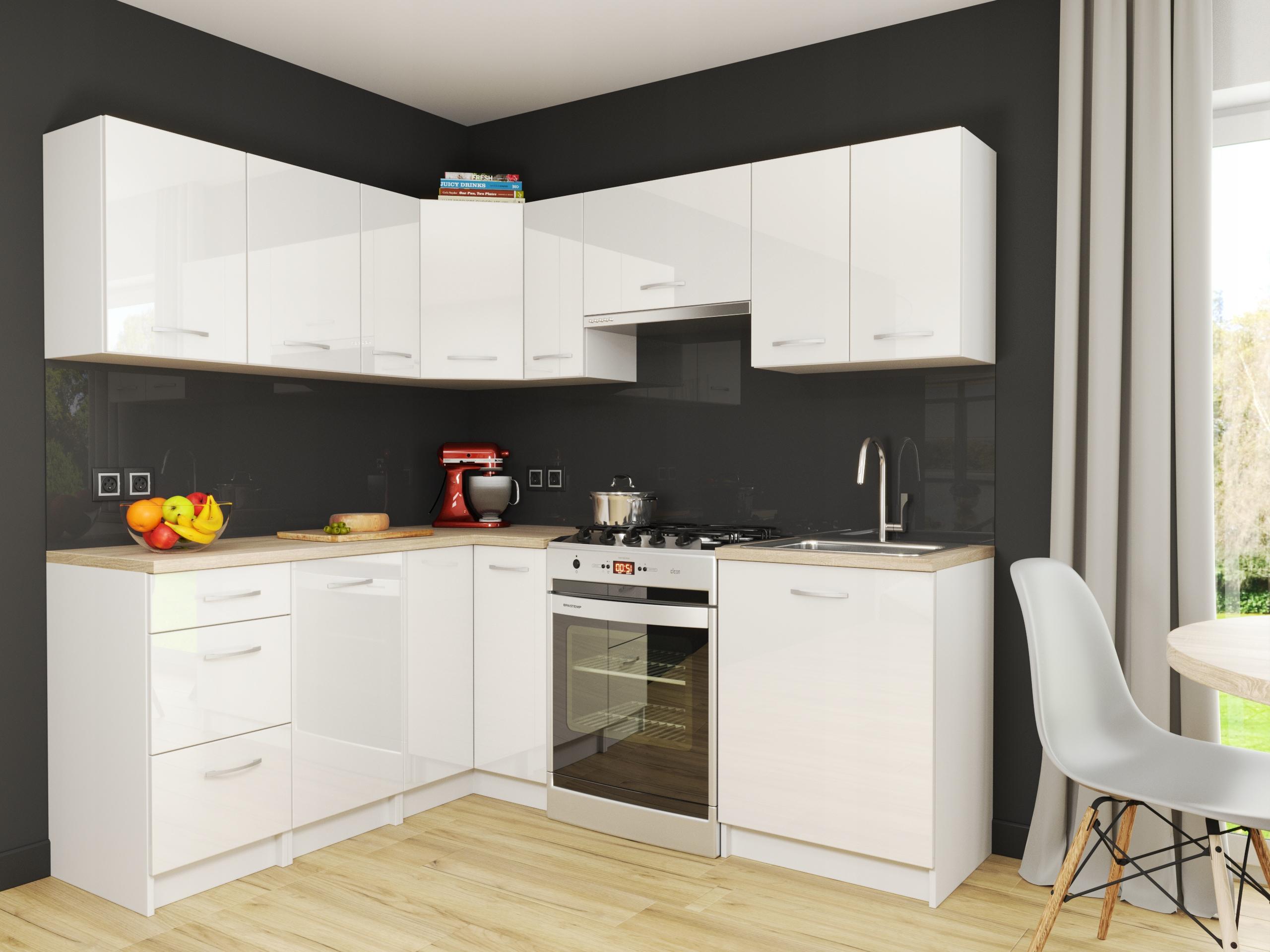 Комплект кухонной мебели Marseille White GLOSS