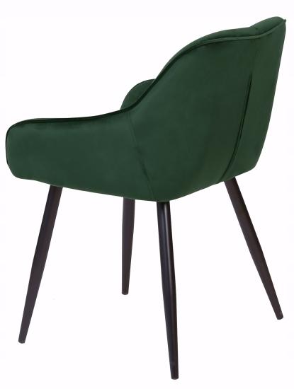 Krzesło tapicerowane Loren dark green Głębokość mebla 60 cm