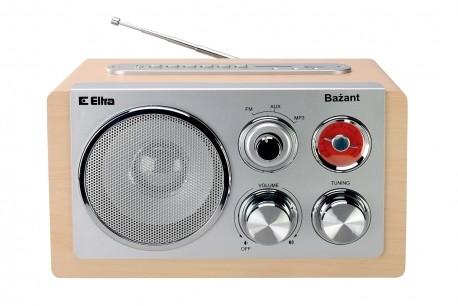 ELTRA Rádio prenosné retro BAŽANT USB svetlo BUK