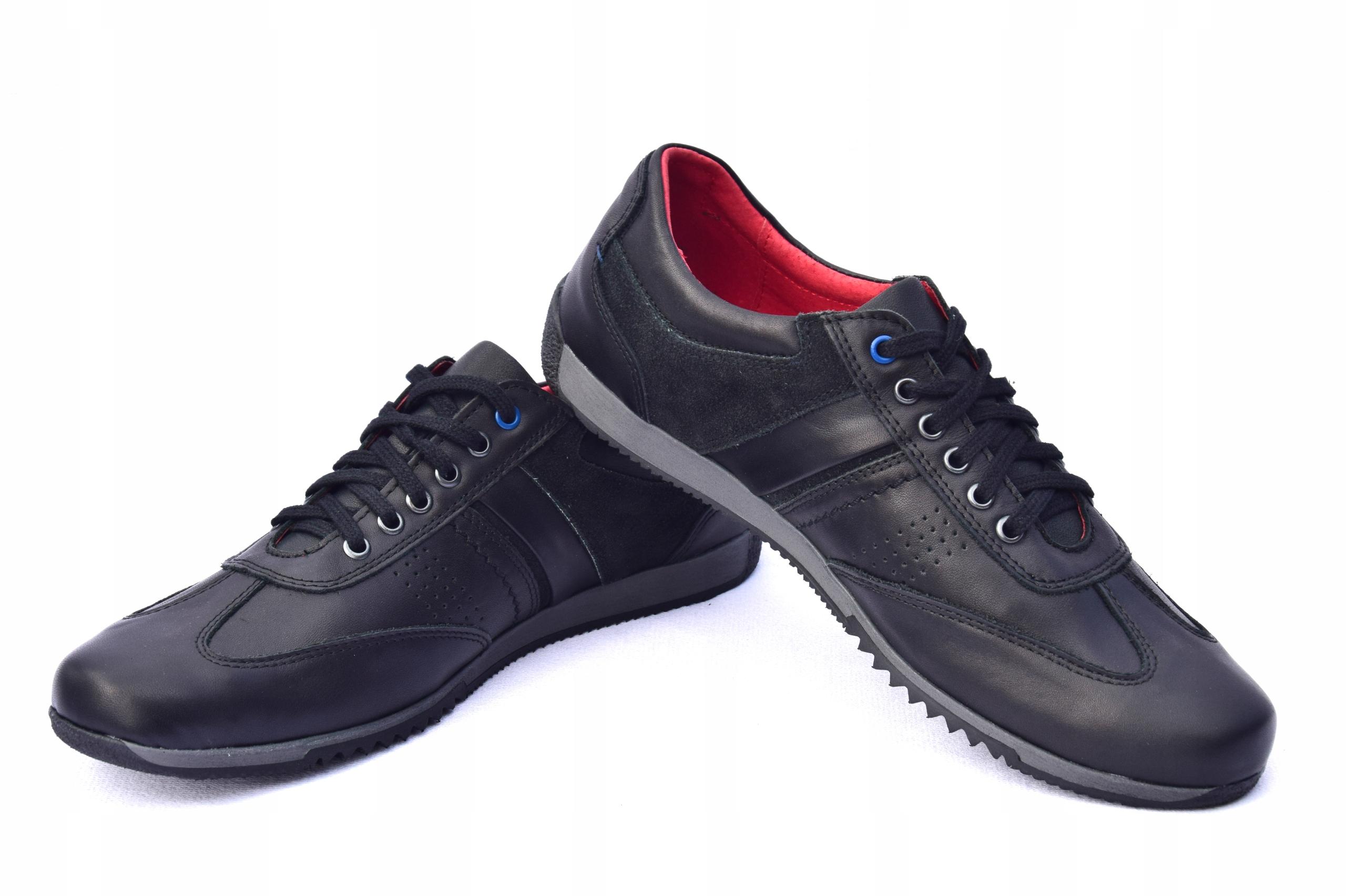 Półbuty skórzane polskie buty casual 0352