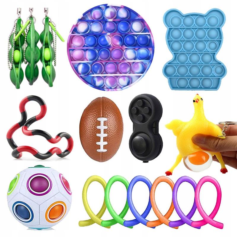Сжимаемый набор мягких игрушек антистресс x16