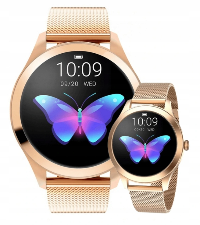 ЖЕНСКИЕ SMARTWATCH KW10 OLED DESIGN STEPS PULSE CYCLE