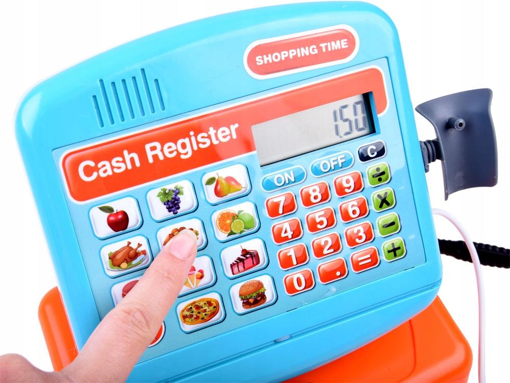 Elektroniczna zabawka Kasa fiskalna sklep ZA3883 Materiał Plastik