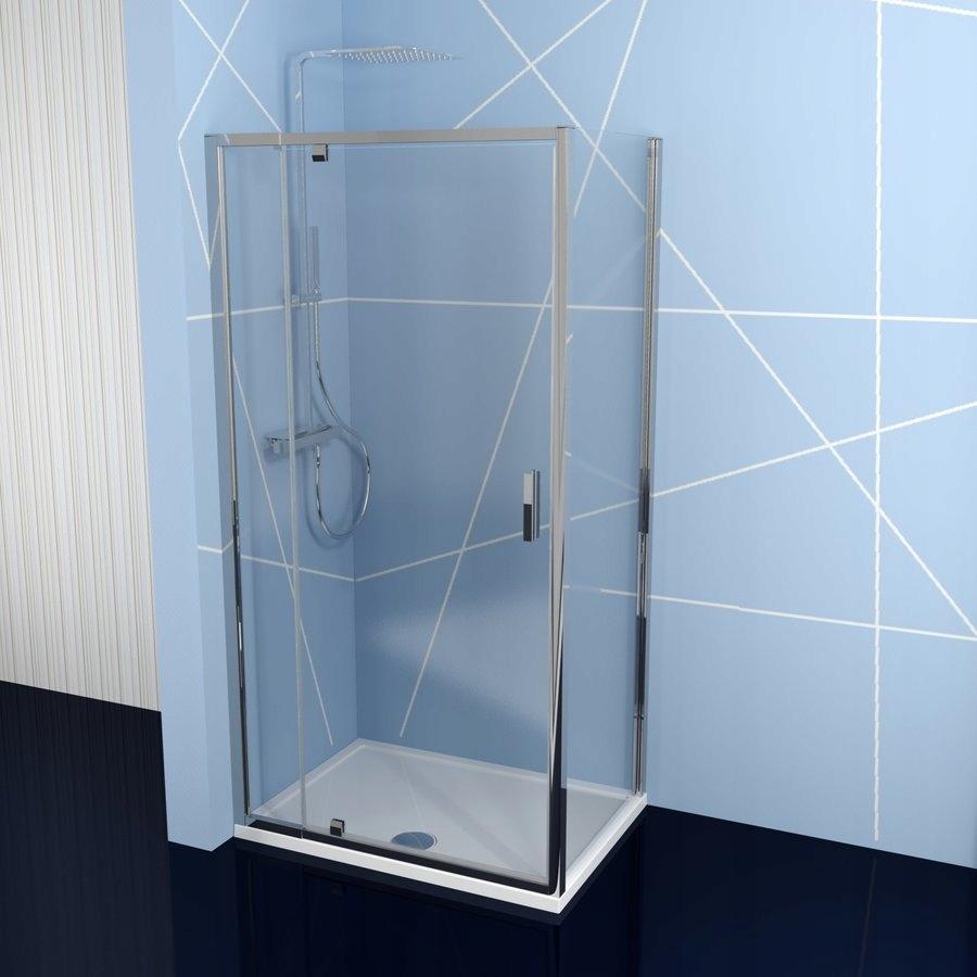 Obdĺžniková sprchová kabína EasyLine 79-93x70 cm