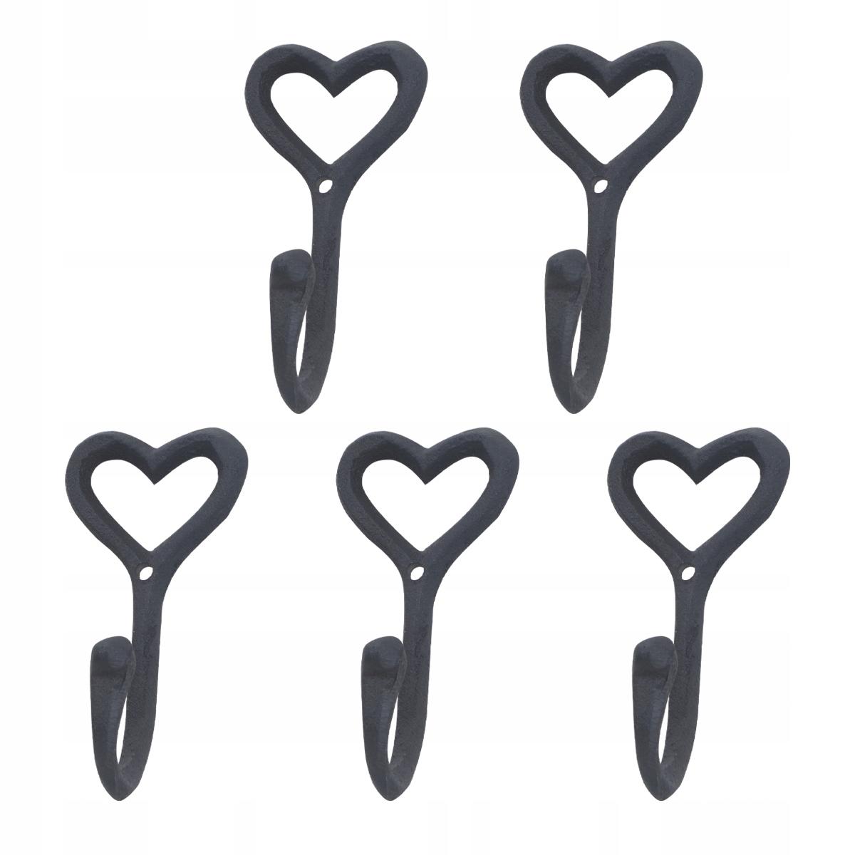 5ks Retro železné umelecké háčiky nástenný vešiak Kpcs