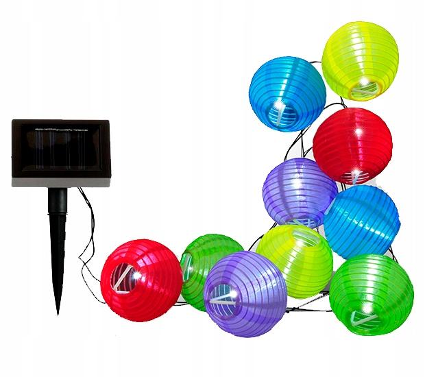 Girlanda solarna LED lampki ogrodowe kulki solarne