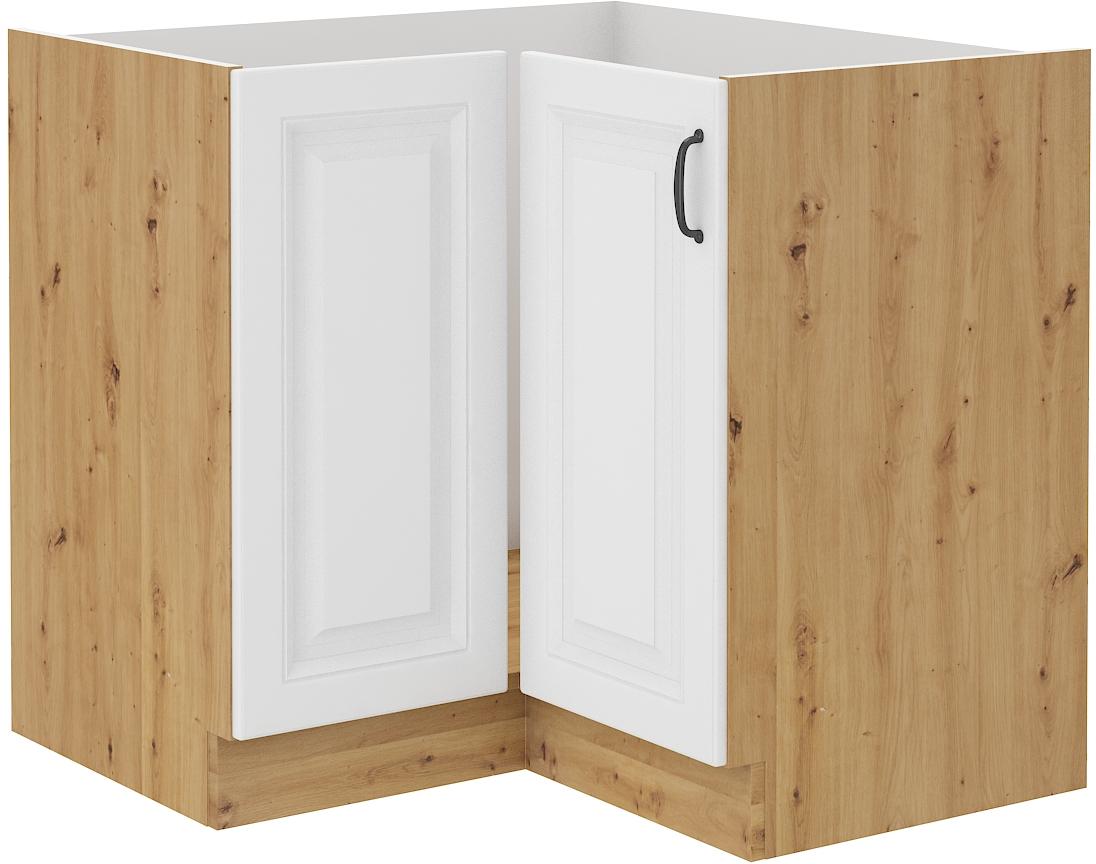 Rohová kuchynská skrinka RETRO 83 cm remeselník + biela