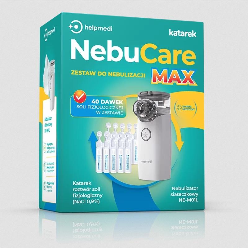 HELPMEDI NebuCare zestaw do nebulizacji + sół fiz. EAN 5907720776473