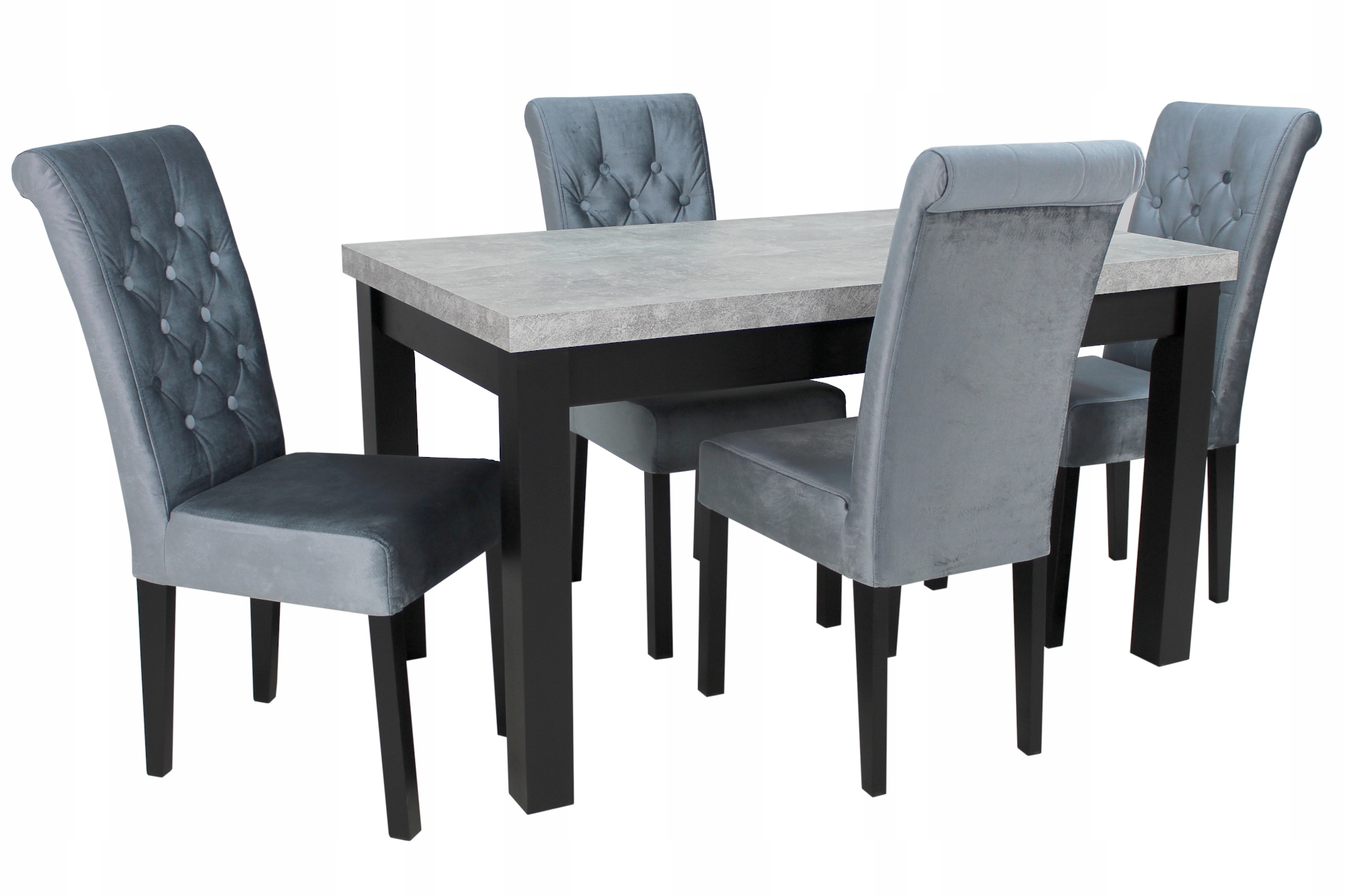 4 стула GLAMOUR + раздвижной стол 80x140 / 180 см