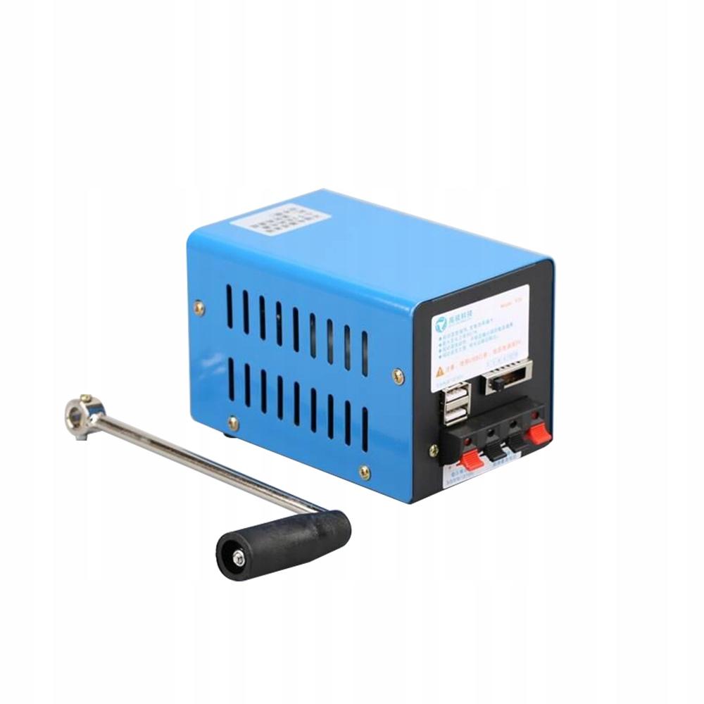 Awaryjny generator korby ręcznej o dużej mocy