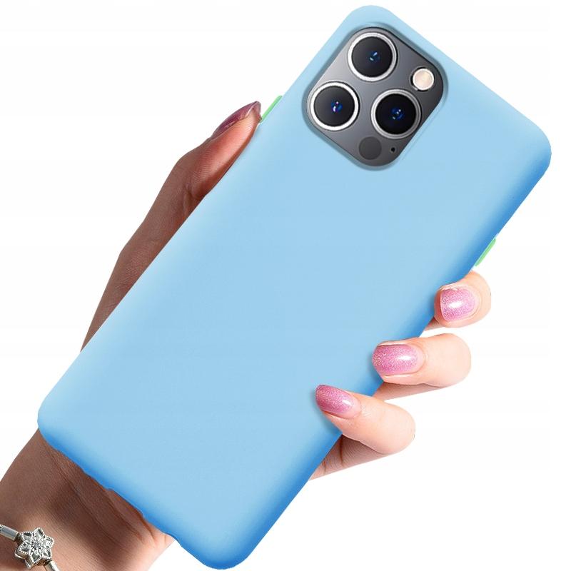 Etui do iPhone 12 Pro Case Silikon + Szkło 9H Dedykowany model iPhone 12 / 12 Pro