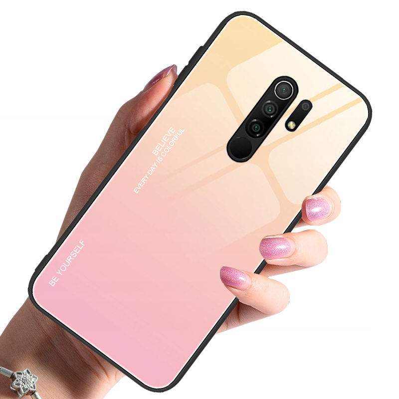 Etui do Xiaomi Redmi 9 Case Glass + Szkło 9H