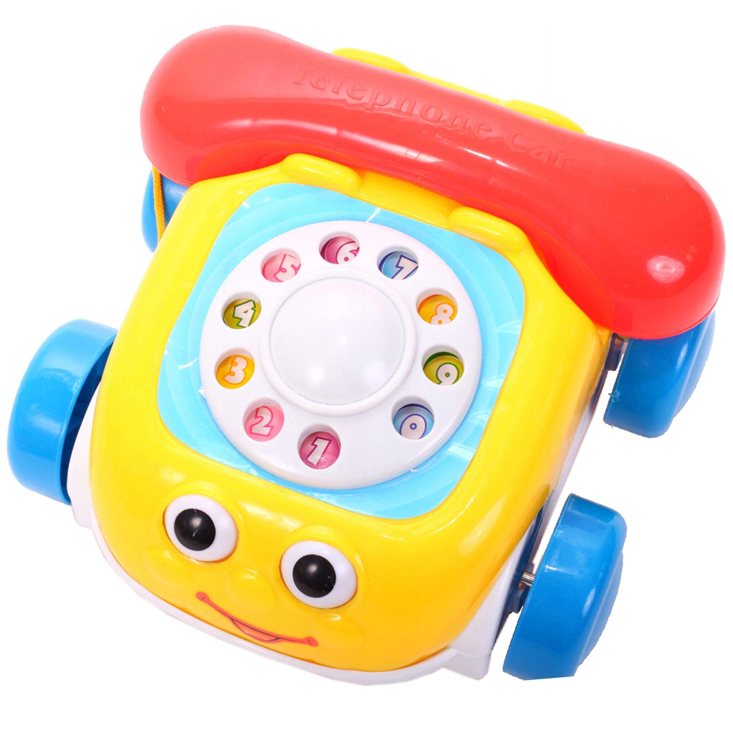 TELEFON GADUŁKI KOLOROWY Auto Na Sznurku Telefonik