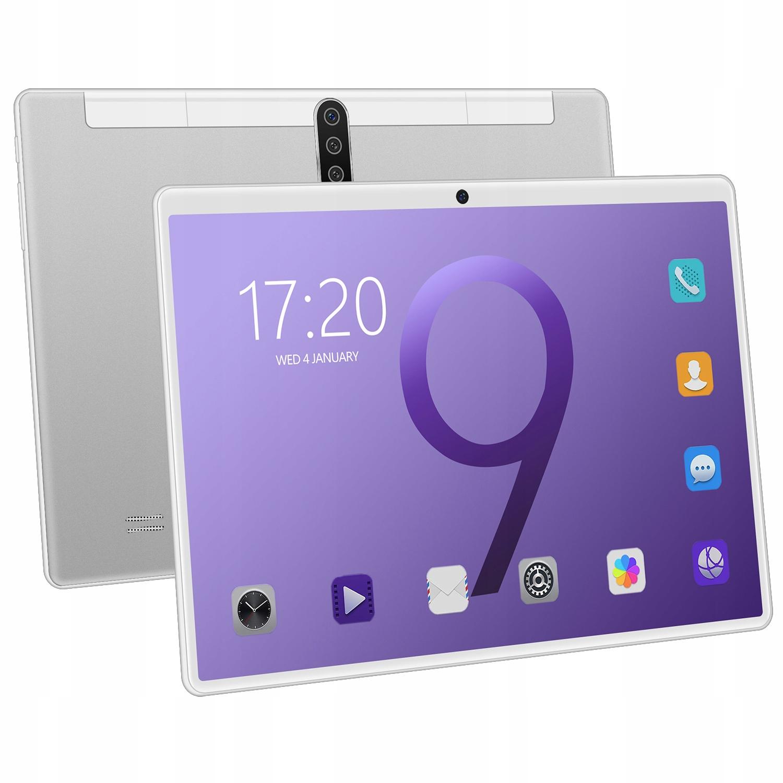 Планшет 4 ГБ + 64 ГБ 4G LTE / Wi-Fi 10,1 дюйма, серебристый