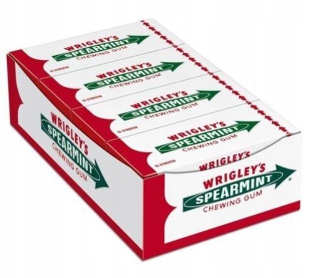 Жевательные резинки Wrigley's Spearmint 8 упаковок по 15 градусов