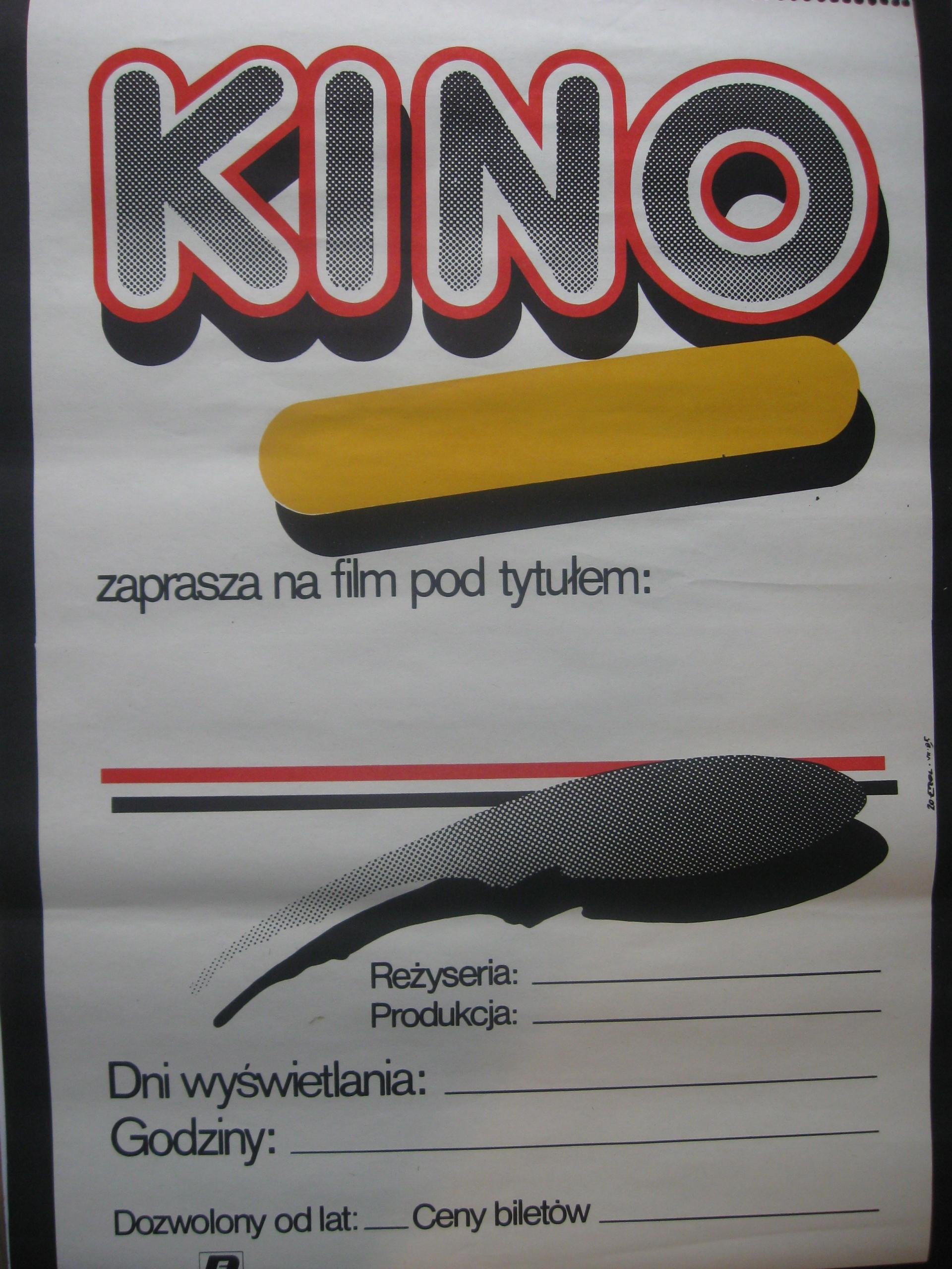 Plakat KINO ZAPRASZA na FILM Projekt Erol 1989