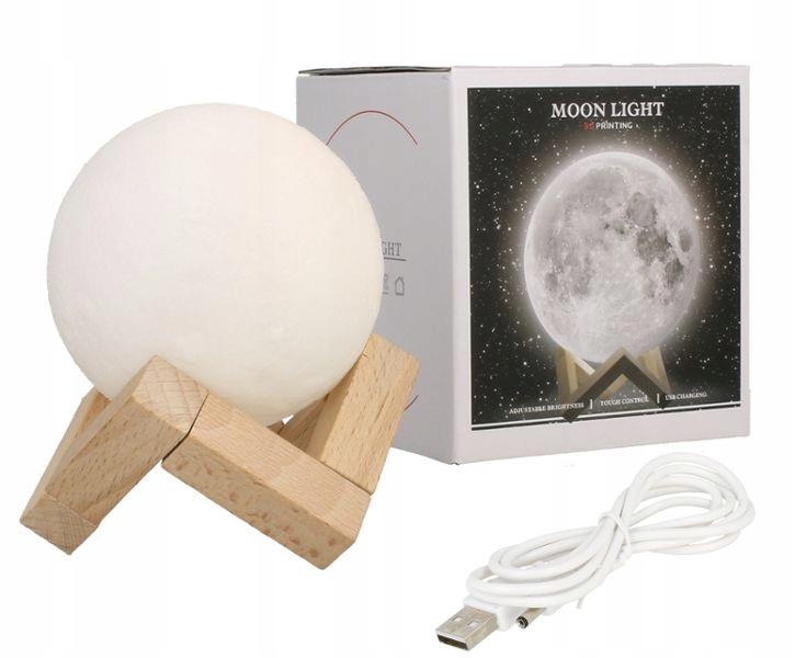 LAMPKA NOCNA ŚWIECĄCY KSIĘŻYC 3D RGB MOON LIGHT