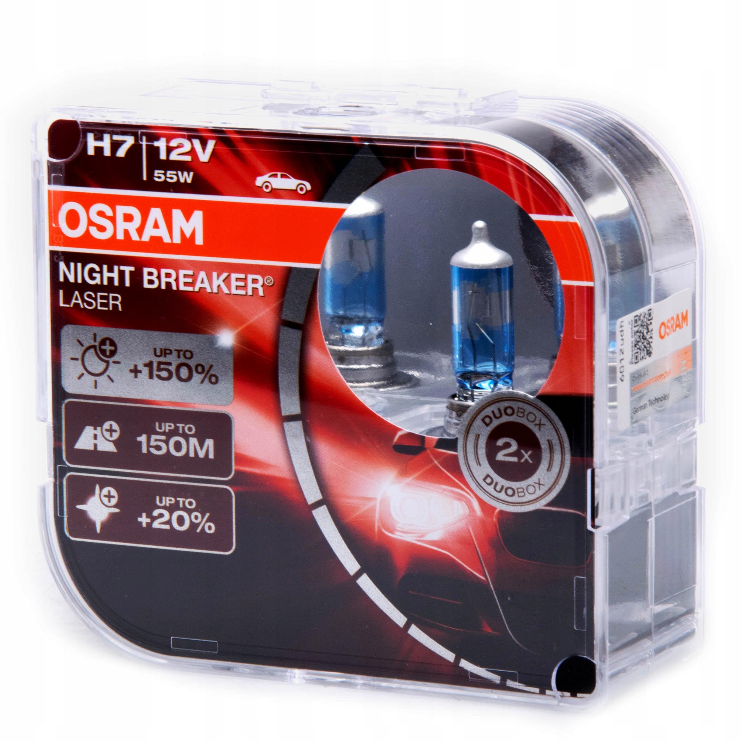 Osram 64210nl Hcb H7 Night Breaker Laser 150 Duo Gdansk Allegro Pl