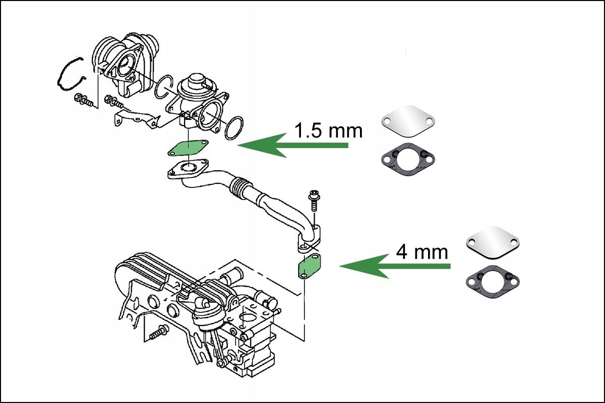 Zaślepki EGR 1.9TD 1.9TDi AUDi SEAT SKODA VW FORD