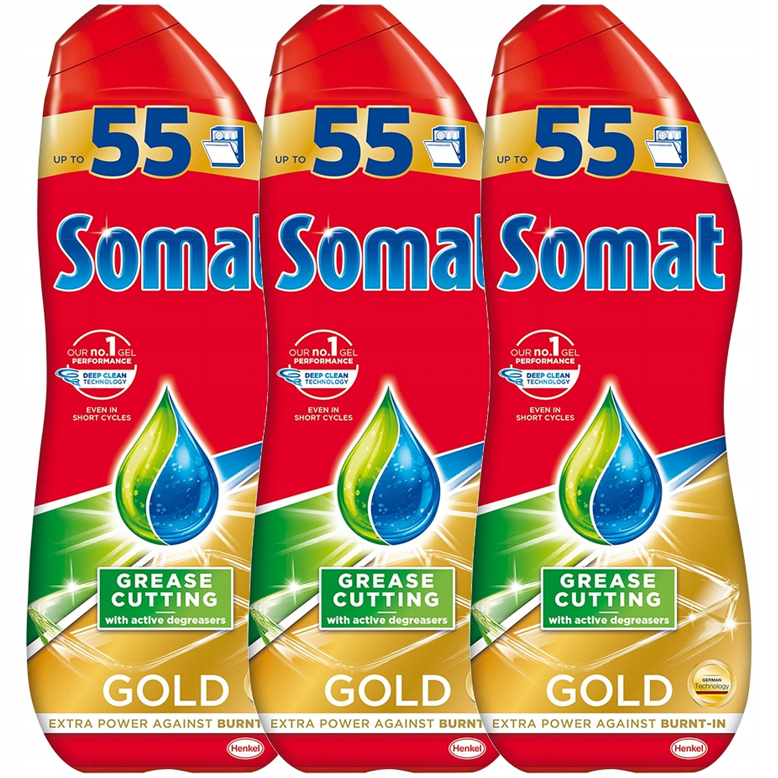 Somat Золотой Гель для посудомоечной машины 55 Циклы 3 x 990мл
