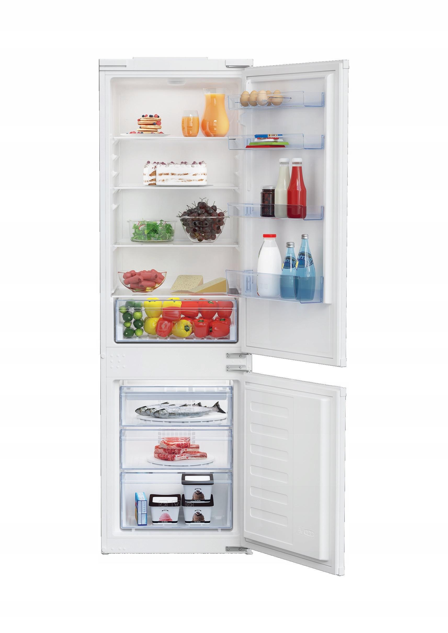 Встраиваемый двухдверный холодильник Beko BCNA275K3SN