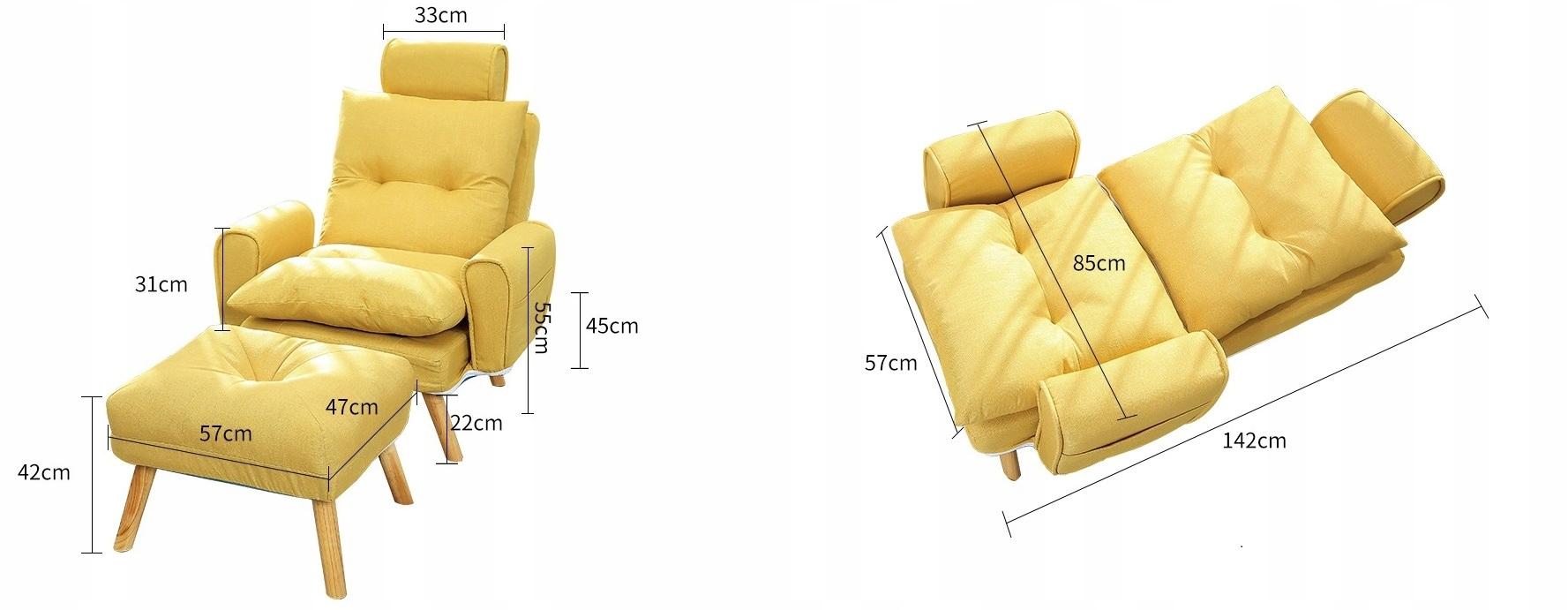USZAK SZÉK Lábtámasz Összecsukható fejtámla 1380 A bútor mélysége 53,5 cm