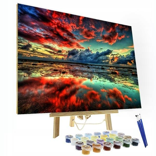Item Picture to PAINTING BY NUMBERS-the Dusk of the Ocean