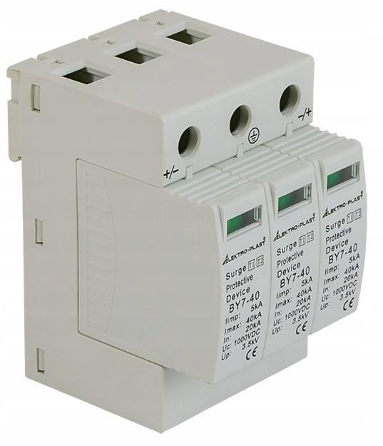 Ogranicznik przepięć PV 3P T1+T2 DC BY7-40 1000VDC
