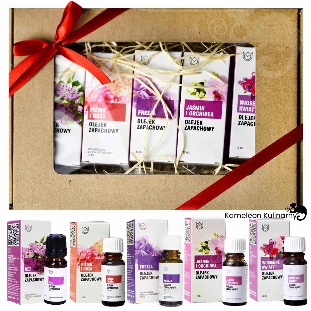 ZESTAW PREZENTOWY OLEJKI eteryczne ZAPACHOWE 5szt Kod producenta aromaterapia olejek zapachowy ZESTAW