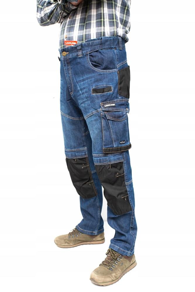 LAHTI PRO Брюки рабочие джинсы стрейч роз. М
