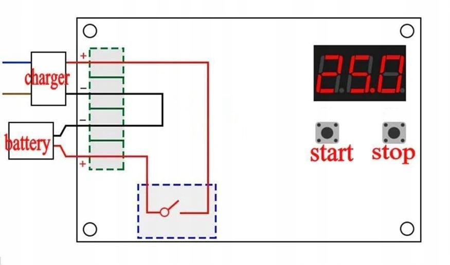 Regulator ładowania akumulatora 12-60V 30A Model 30A