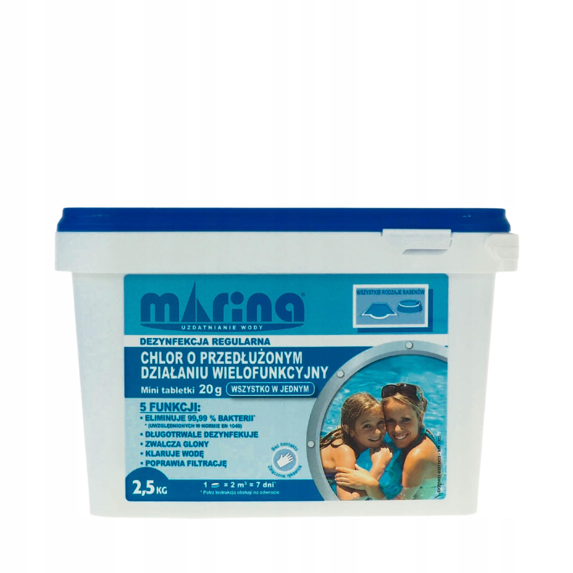 Chlór multifunkčný dlhý účinok pre bazén