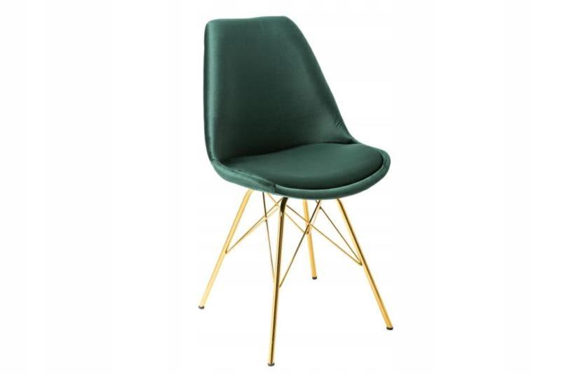 Moderná škandinávska zelená stolička RETRO