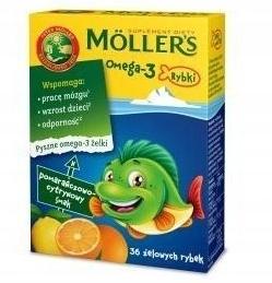Mollers Omega 3 Rybki TRAN pom-cytr. 36 szt