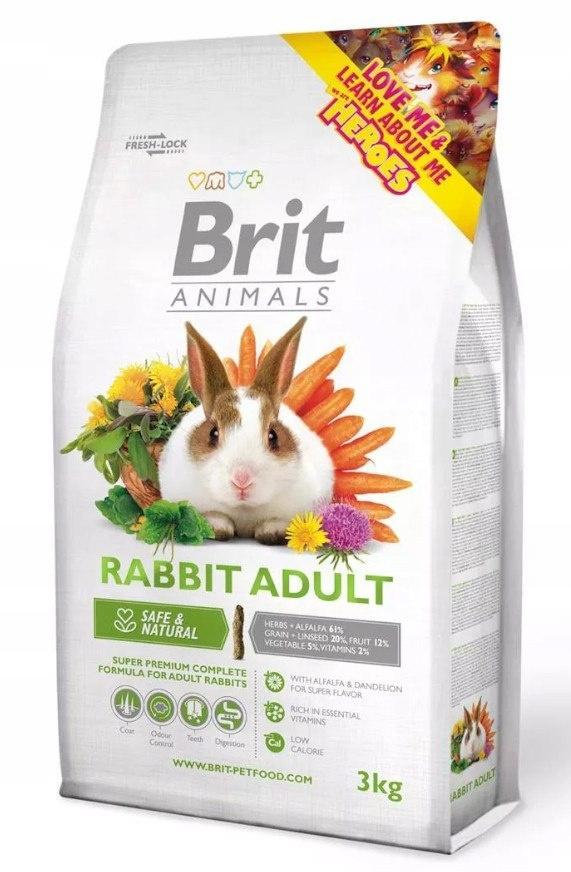 Корм для кроликов Brit Animals ВЗРОСЛЫЕ 3кг
