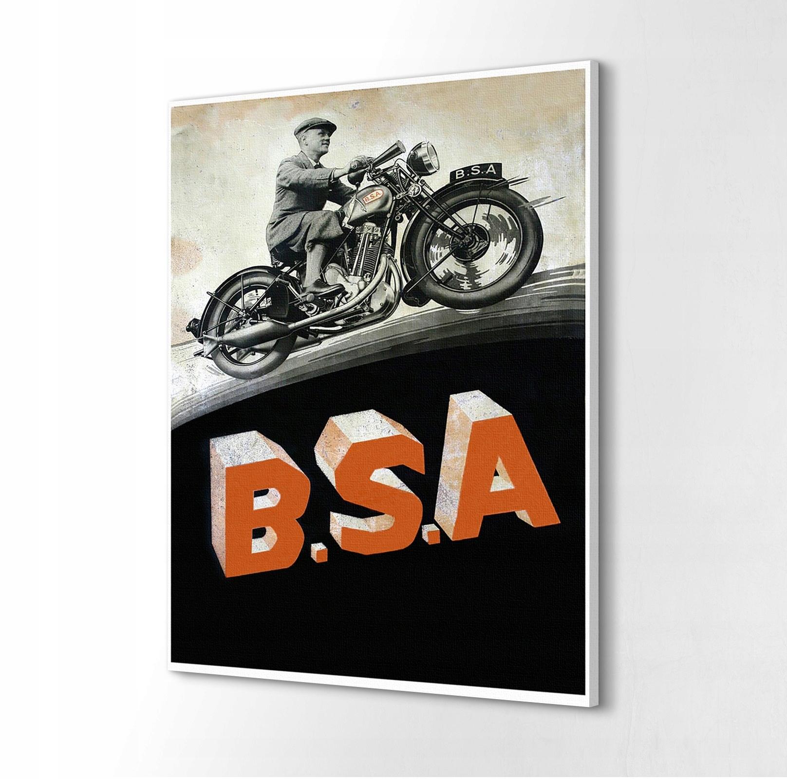 Foto obraz na plátne 60x80 Plagát Retro motocykle