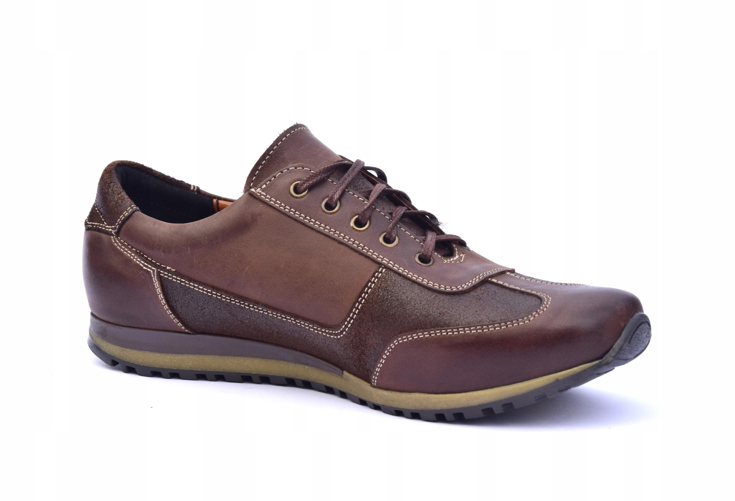 Półbuty skórzane brązowe obuwie ze skóry PL 294 Waga produktu z opakowaniem jednostkowym 2 kg