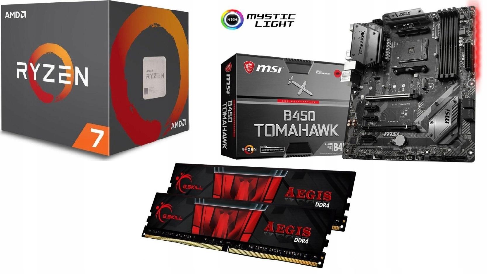 Купить Комплект AMD Ryzen 7 3700X + B450 TOMAHAWK MAX + 16 ГБ на Otpravka - цены и фото - доставка из Польши и стран Европы в Украину.