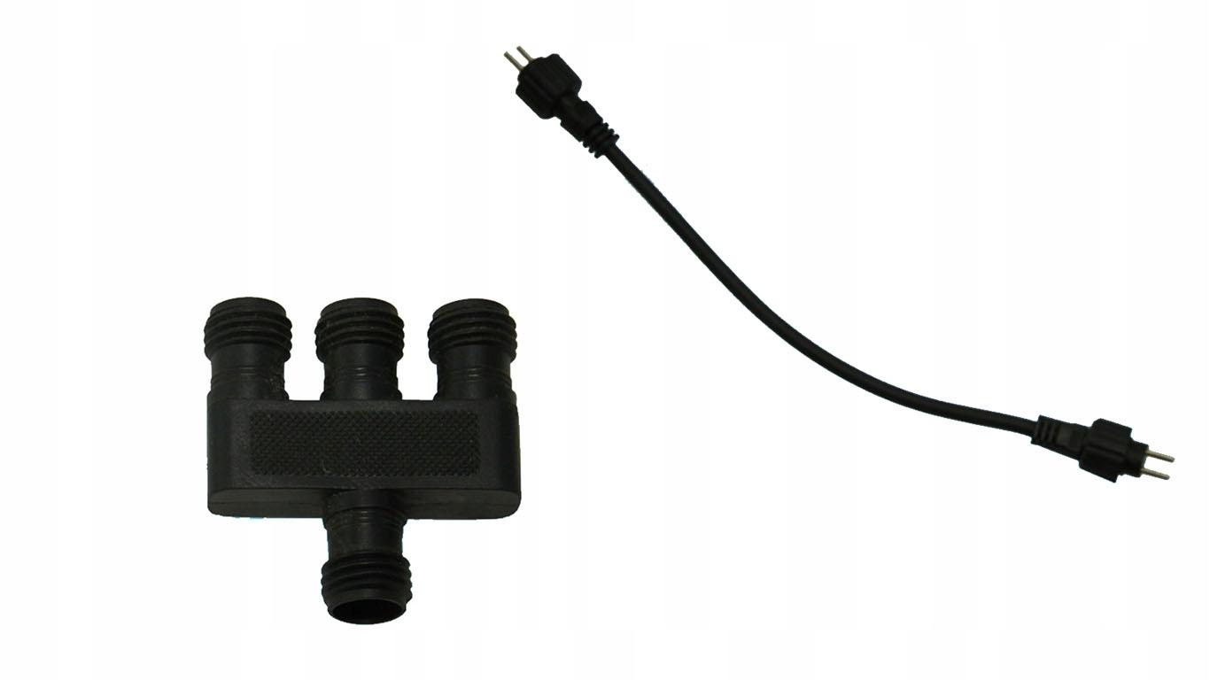 ROZDZIELACZ Dwu pinowy 3 LAMPY + adapter