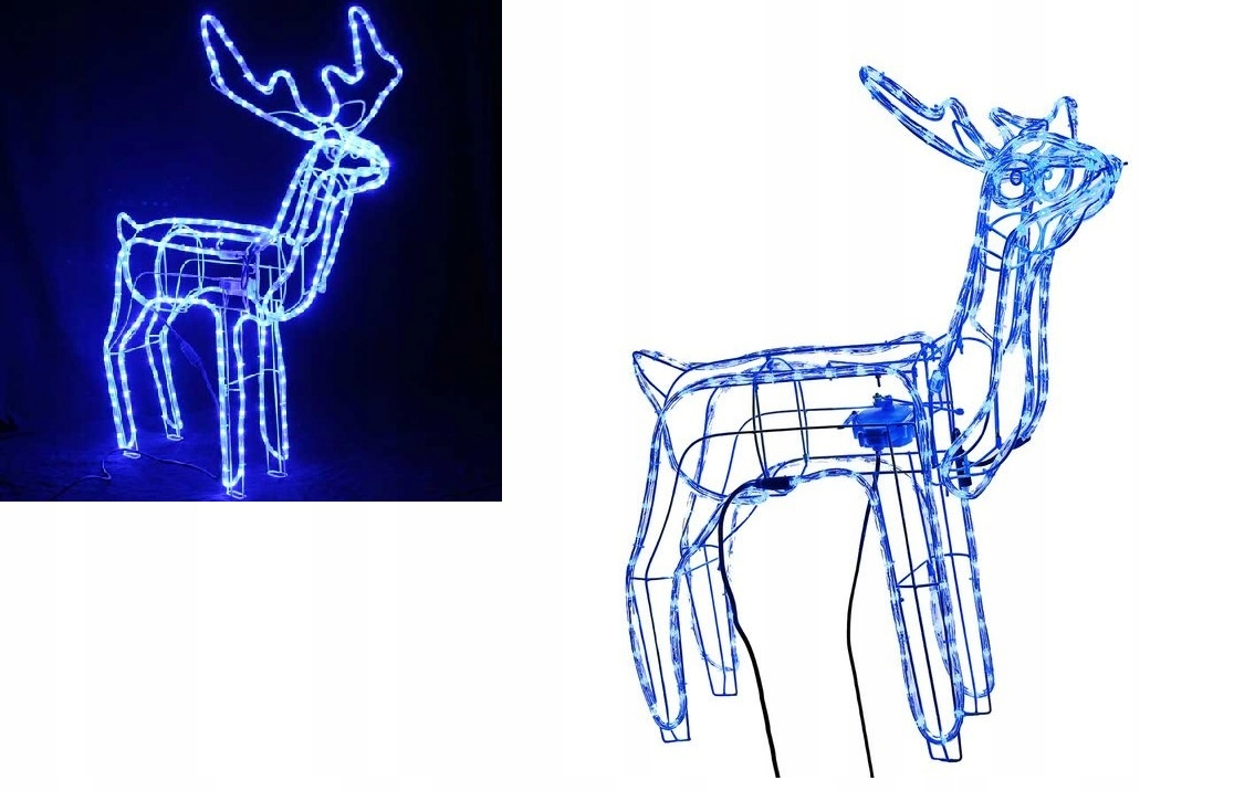 LED REINDEER SPINKS RUKY HLAVA VEĽKÁ 3D + BLESK