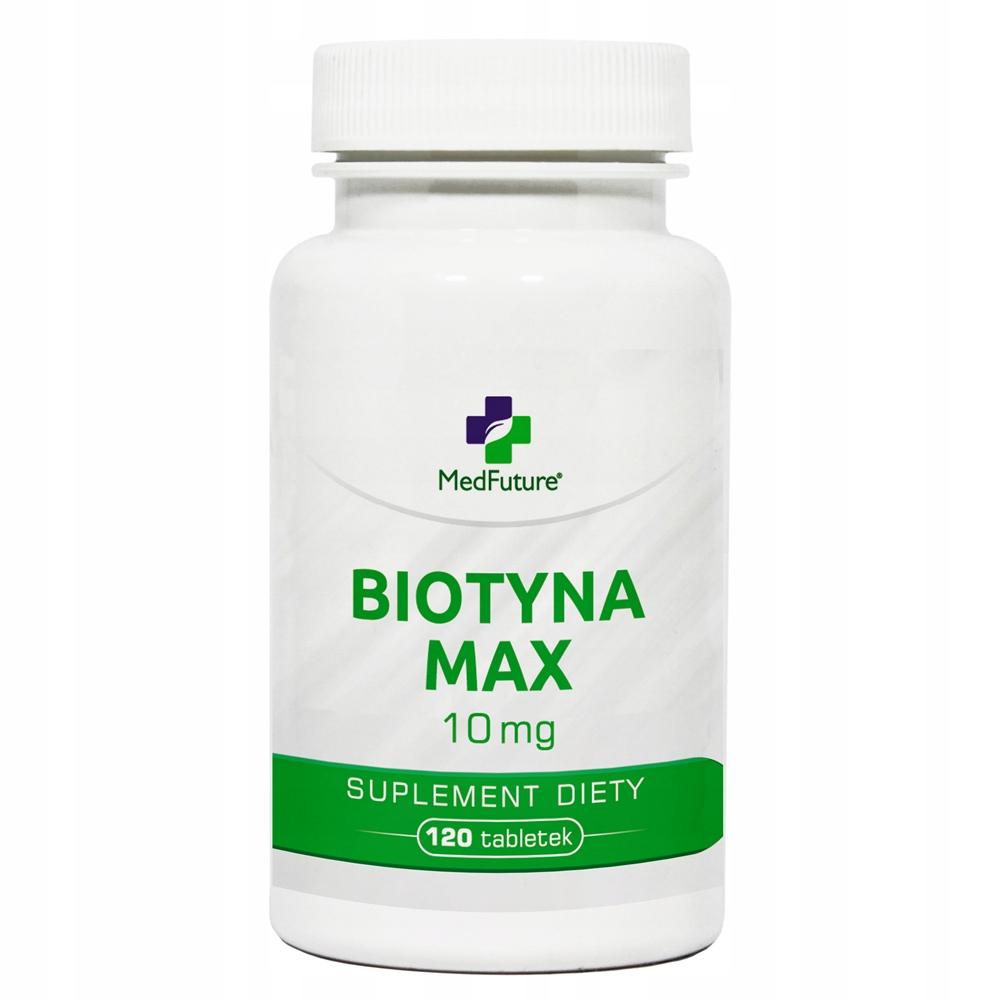 BIOTYNA MAX 10 mg włosy, skóra, paznokcie 120 tab.