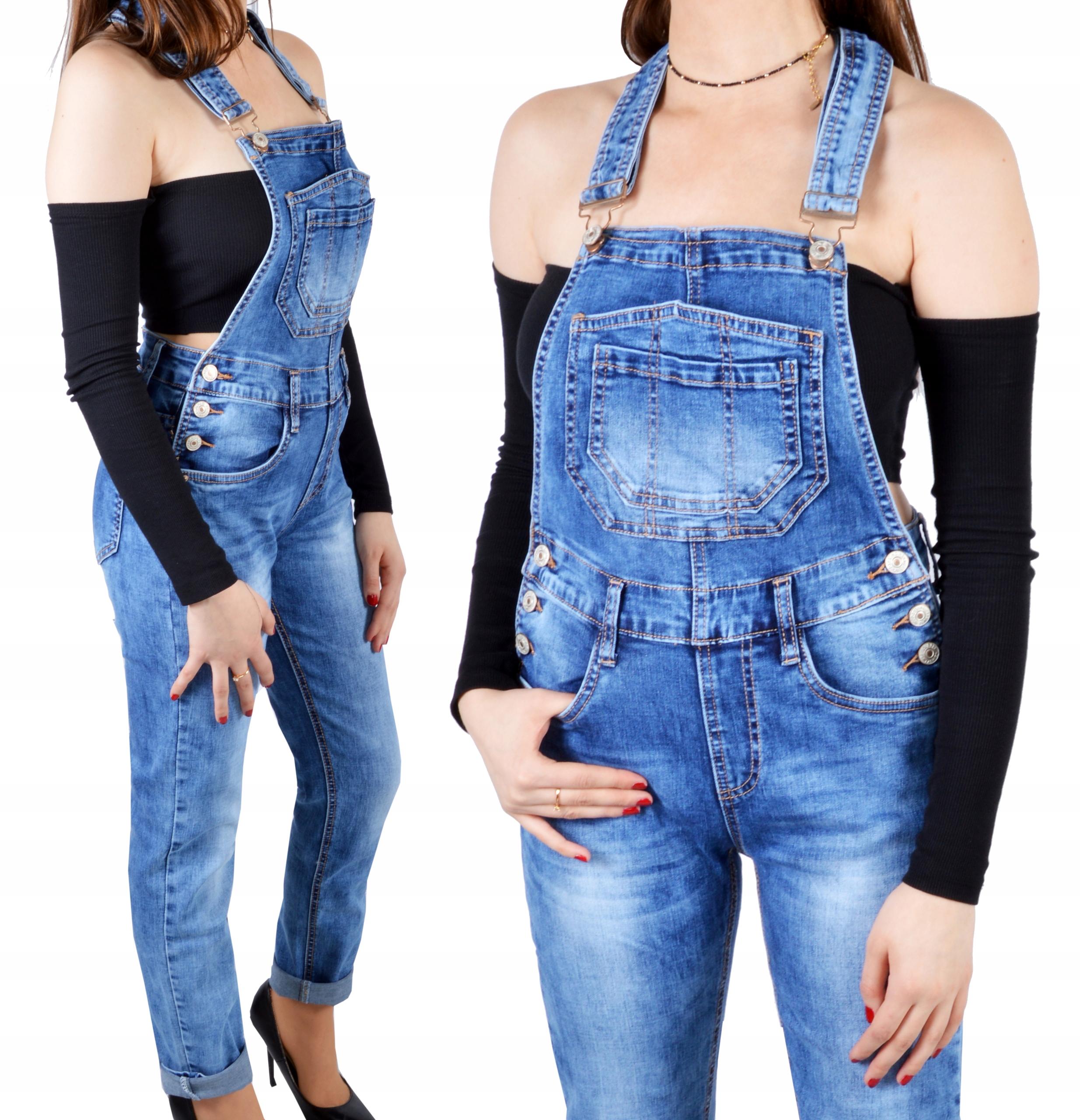 Ogrodniczki Damskie Jeansy Spodnie Jeansowe 9351307036 Allegro Pl
