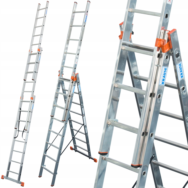 Лестница алюминиевая KRAUSE 3x8 Monto Tribilo 6.05м