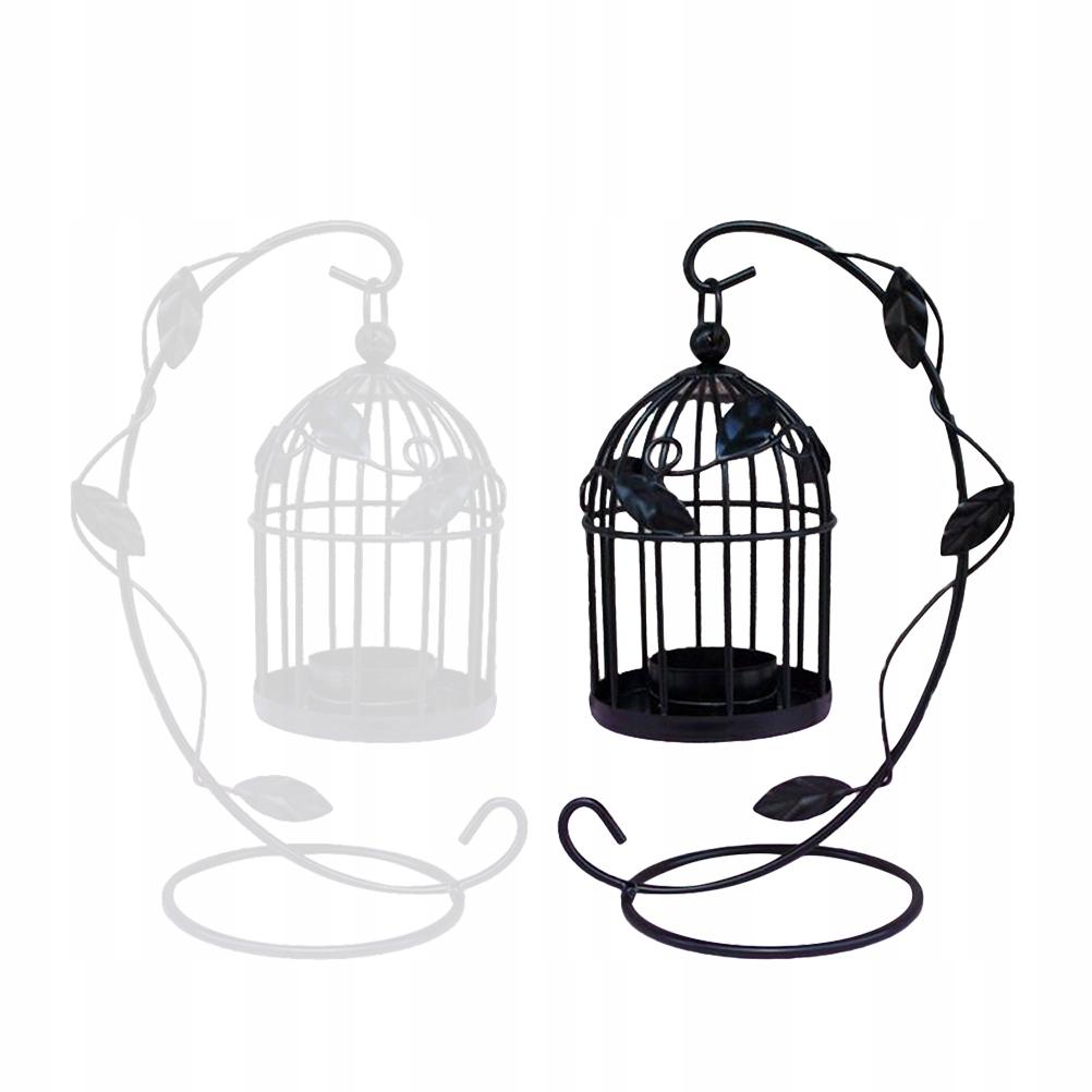 2ks Kreatívny železný svietnik Retro Cage dl