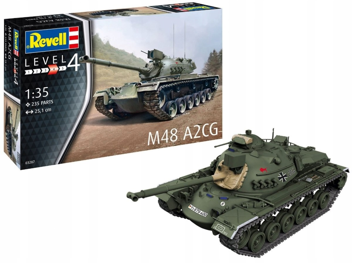 Model do sklejania Revell Czołg M48 A2CG